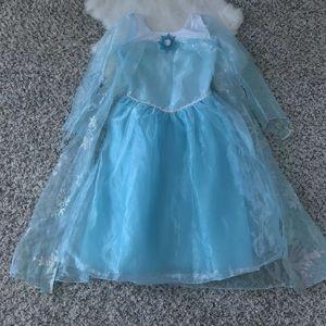 Disney Frozen Dress Princess Elsa Costume Sz 8-10